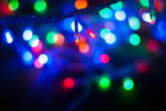 ,Christmas lights, light glitter vintage on wood  background,bokeh background,defocused .Happy Birthday,Valentine day Stock Photos