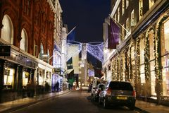 Christmas Lights in London Royalty Free Stock Images