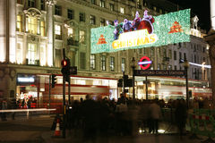 Christmas Lights in London royalty free stock photos