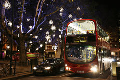 Christmas Lights in London Royalty Free Stock Photography