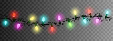 Free Christmas Lights Luminous Garland Isolated Realistic Design Elem Stock Photos - 82705153