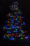 christmas lights made tree Στοκ Εικόνες