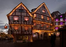 Christmas lights in Colmar in Alsace