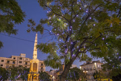 Christmas Lights in Malaga Stock Images