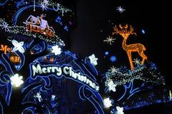 christmas lights merry neon Στοκ Εικόνα