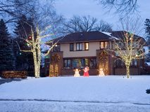 Christmas lights in Minneapolis Stock Photography