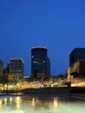Christmas lights in Minneapolis Royalty Free Stock Photos