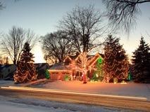 Christmas lights in Minnesota Royalty Free Stock Photos