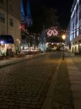 Christmas lights Mitte Berlin in Germany by night Royalty Free Stock Photography