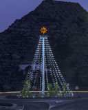 Christmas lights at Mojacar Royalty Free Stock Images