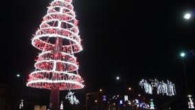 Christmas lights at night Royalty Free Stock Photo