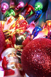 Christmas Lights & Ornaments Royalty Free Stock Photos