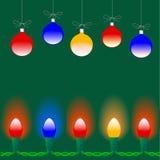 christmas lights ornaments Στοκ εικόνα με δικαίωμα ελεύθερης χρήσης