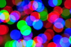 Christmas lights out of focus Royalty Free Stock Photography