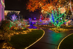 Christmas lights outdoor Royalty Free Stock Photography