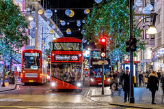 Christmas lights 2016 on Oxford street, London royalty free stock images