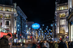 Christmas lights 2016 on Oxford street, London Stock Photo