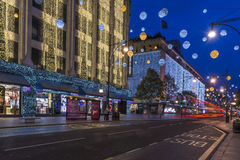 Christmas lights on Oxford Street, London Royalty Free Stock Images