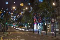 Christmas lights on Oxford Street, London Stock Images
