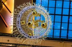 Christmas Lights in Palladium Stock Images
