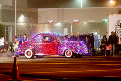 Christmas Lights Parade in Keizer, Oregon Stock Photo