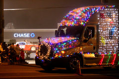 Christmas Lights Parade in Keizer, Oregon Royalty Free Stock Images