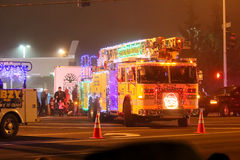 Christmas Lights Parade in Keizer, Oregon Royalty Free Stock Photography