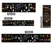 Christmas lights poster. With shining and glowing garlands on wooden background Lettering Merry Christmas. Web banner vector illustration Royalty Free Stock Image