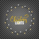 Christmas lights. Realistic design elements for Xmas. Christmas lights. Realistic design elements for Xmas. Glowing lights for winter holidays. Shiny garlands Royalty Free Stock Photography