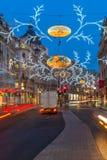 Christmas lights on Regent Street, London, UK Stock Photography