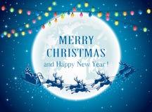 Christmas lights and Santa Royalty Free Stock Photo