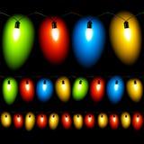 Christmas Lights. Seamless Illustration. Royalty Free Stock Photo