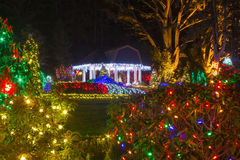 Christmas Lights in Shore Acres State Park, Oregon Stock Photos