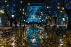 Christmas lights in Sloane Square in London Royalty Free Stock Image