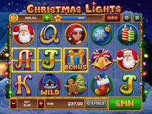 Christmas lights slots game Stock Photo