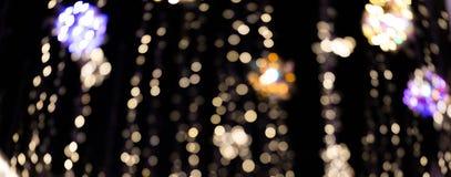 Blur lights on dark background
