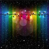 Christmas Lights Snow Rainbow Royalty Free Stock Photo