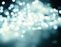 Christmas lights and snowflakes background Stock Photos