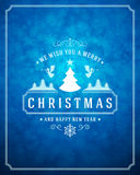 Christmas lights with snowflakes and typography Stock Photos
