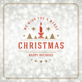 Christmas lights with snowflakes and typography Royalty Free Stock Photo
