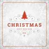 Christmas lights with snowflakes and typography Royalty Free Stock Photos