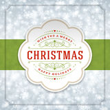 Christmas lights with snowflakes and typography Royalty Free Stock Images