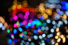 Christmas lights soft background texture blur stock image