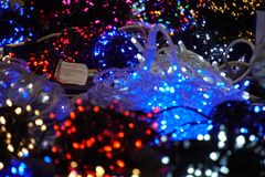 Christmas lights soft background texture blur royalty free stock photo