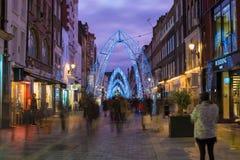 Christmas lights on South Molton Street, in Mayfair, London Stock Photos