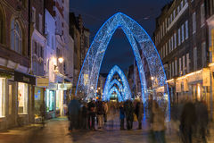 Christmas lights on South Molton Street, in Mayfair, London Stock Image