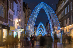 Christmas lights on South Molton Street, in Mayfair, London Stock Photos