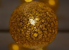 Christmas lights, a sphere that looks like the sun. royalty free stock photos