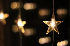 Christmas lights. Stars as a decoration Stock Image