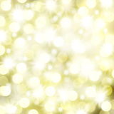 Christmas Lights and Stars Background Stock Photo